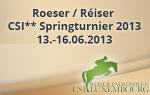Roeser / Réiser - CSI** Springturnier 2013